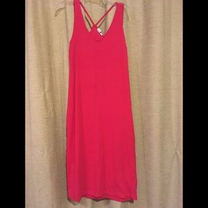 GAP Hot pink ribbed dress